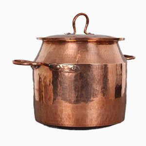 Large Danish Copper Pot with Lid, 1900s