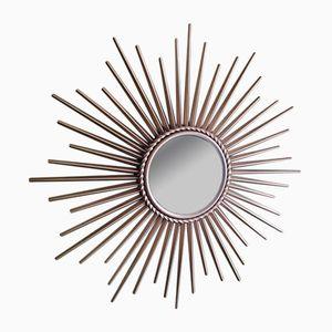 Vintage Spiegel mit Rahmen in Sonnen-Optik von Chaty Vallauris, 1950er