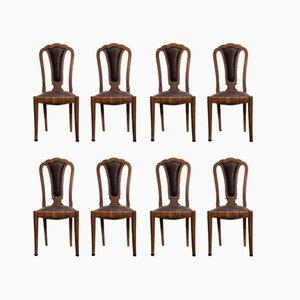 Chaises d'Appoint Art Déco de Meroni & Fossati, 1930s, Set de 8