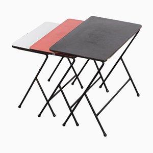 Tavolini ad incastro vintage di Tjerk Reijenga per Pilastro, anni '60, set di 3