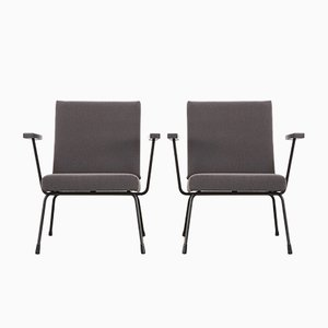 Mid-Century Model 1401 Easy Chairs by Wim Rietveld for Gispen, 1960s, Set of 2