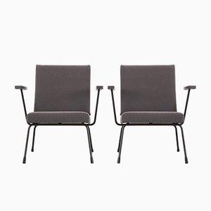 Mid-Century Modell 1401 Sessel von Wim Rietveld für Gispen, 1960er, 2er Set
