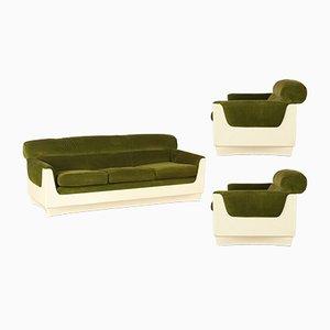 Vintage Set aus Sofa mit 2 Sesseln, 1970er