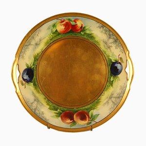 Dekorativer antiker Teller von Krister-Porzellan-Manufaktur