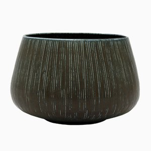 Danish Stoneware Bowl by Nathalie Krebs & Eva Staehr-Nielsen for Saxbo, 1950s