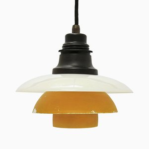 Vintage PH 2/2 Glass Pendant Lamp by Poul Henningsen for Louis Poulsen, 1930s