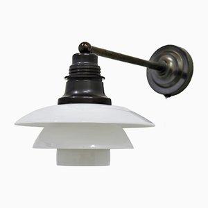 Lámpara de pared PH 2/2 vintage de vidrio de Poul Henningsen para Louis Poulsen, años 30