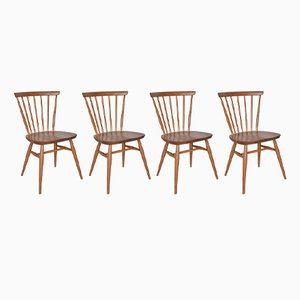 Vintage Model 449 Bow Back Dining Chairs by Lucian Ercolani for Ercol, Set of 4