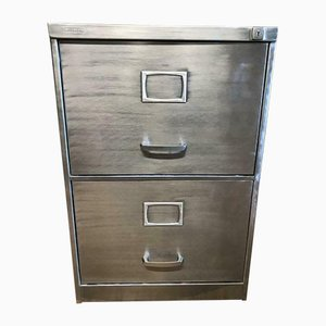 Vintage Industrial Metal 2-Drawer Filing Cabinet from Triumph, 1970s