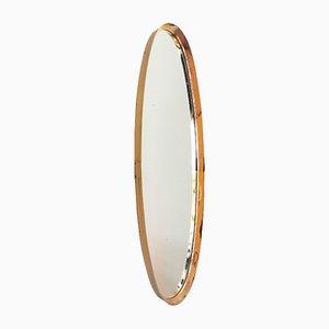 Specchio a muro in ottone placcato in oro di Vereinigte Werkstätten, anni '60