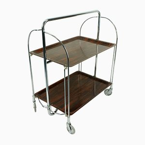 Vintage Rosewood Effect Tea Trolley from Bremshey & Co.