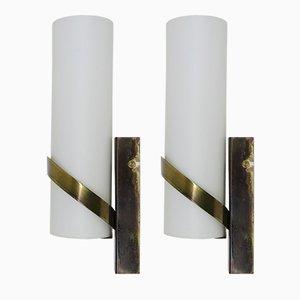 Österreichische Mid-Century Wandlampen, 1960er, 2er Set