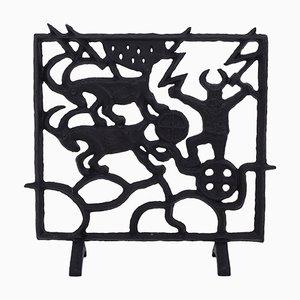 Pantalla de chimenea sueca Mid-Century de Olle Hermansson para Husqvarna