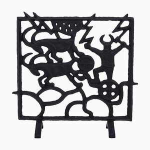 Schwedischer Mid-Century Kaminschirm von Olle Hermansson für Husqvarna