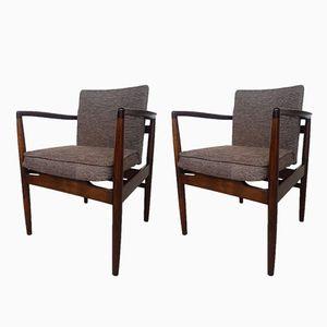 Mid-Century Danish Teak Armchairs, Set of 2