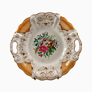 Piatto decorativo con maniglie di Krister Porzellan Manufaktur, 1836