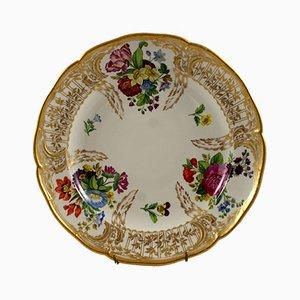 Piatto antico in ceramica di Herzoglich Braunschweigische Porzellan Manufaktur Fürstenberg