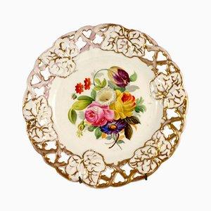 Dekorativer Biedermeier Teller von Carl Tielsch & Co., 1850er