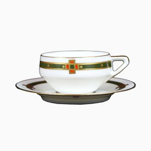 Art Nouveau Teacup & Saucer from Hermann Ohme, 1910s