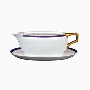 Art Deco Porzellan Sauciere von Fabrykę Porcelany I Wyrobów Ceramiczny Ćmielów
