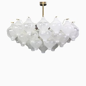 Large Austrian Tulipan Glass Chandelier from Kalmar, 1960s