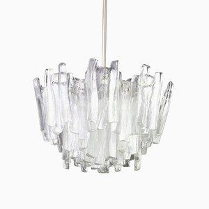 Lámpara de araña grande de cristal de Murano de Kalmar, años 60