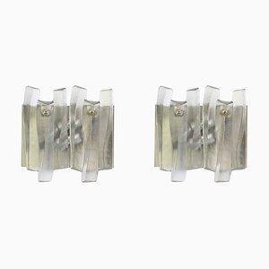 Apliques Fuente grandes de cristal de Murano de Kalmar, años 60. Juego de 2