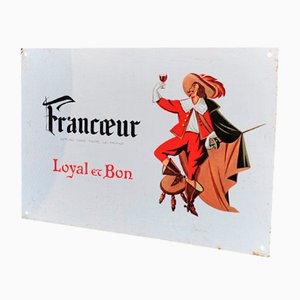 Painted Metal Francoeur Musketeer Sign, 1970s