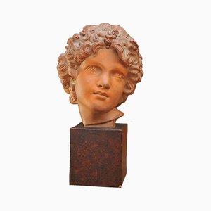 Antike Büste aus Terrakotta von Frédéric-Auguste Bartholdi
