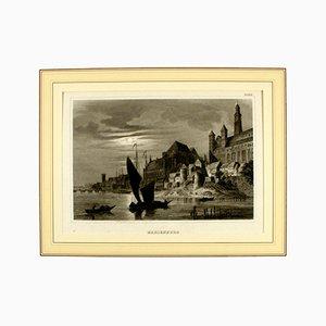 Litografia Marienburg di Alexander Duncker, XIX secolo