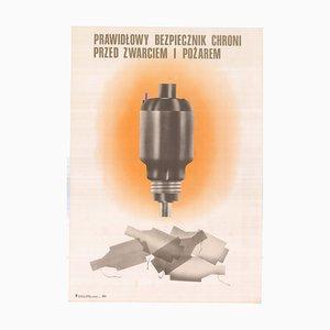 Poster di W. Surowiecki per Instytut Wydawniczy Centralnej Rady Związków Zawodowych, Polonia, 1977