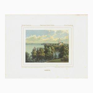 Lithographie Karwice Palace de Aleksander Duncker, 19ème Siècle