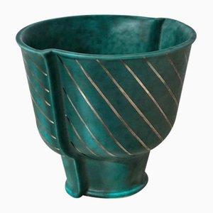 Argenta Vase aus Steingut von Wilhelm Kåge für Gustavsberg, 1940er