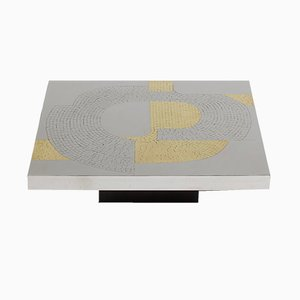 Aluminum Coffee Table by Fernand Dresse, 1970s