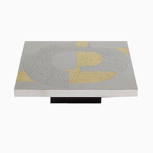 Table Basse en Aluminium par Fernand Dresse, 1970s