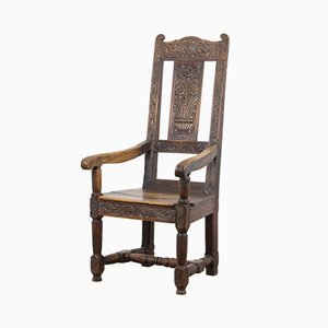 19th-Century Oak Armchair