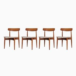 Dänische Esszimmerstühle von H. W. Klein, 1960er, 4er Set