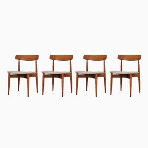 Danish Dining Chairs by H. W. Klein, 1960s, Set of 4