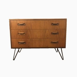 Teak Chest of Drawers with Hairpin Legs from G-Plan, 1970s