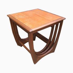Tavolini ad incastro quadrato bicolore di G-Plan, anni '60