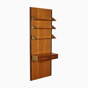 Walnut Veneer Bookcase, 1960s
