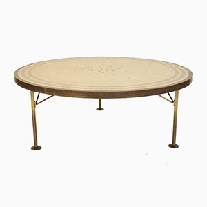 Round Mid-Century Coffee Table with Mosaic Top by Berthold Müller, 1960s