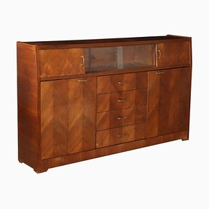 Rosewood Veneer and Glass Cupboard, 1960s