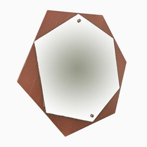 Vintage Hexagonal Mirror, 1970s