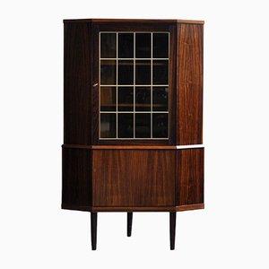 Mueble esquinero danés vintage de teca, años 70