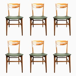 Danish Dining Chairs, 1950s, Set of 6