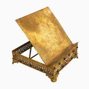 Leggio antico in ottone, fine XIX secolo