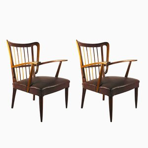 Cherry Chairs by Paolo Buffa, 1950s, Set of 2