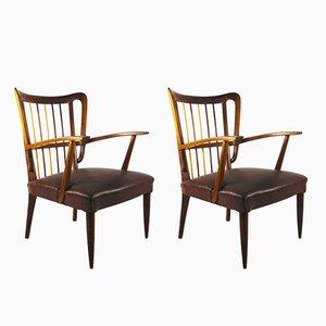 Stühle aus Kirschholz von Paolo Buffa, 1950er, 2er Set