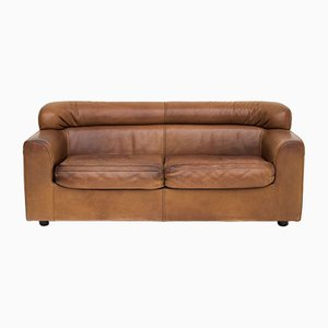 Leather 2-Seater Sofa from Durlet, 1970s